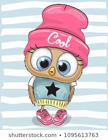 Illustration about Cute Cartoon Owl in a hat and scarf. Illustration of baby, child, cool - 117332851 Cartoon Cartoon, Cartoon Owl Drawing, Cute Owl Cartoon, Bird Clipart, Owl Bags, Felt Owls, Owl Pictures, Baby Owls, Cute Drawings