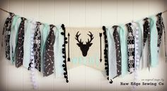 DEER HEAD Wild One High Chair Highchair by RawEdgeSewingCo on Etsy