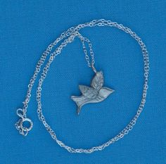 Silver Dove Charm Necklace by OneLittleStar on Etsy