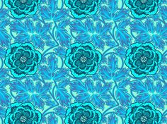 """Aquamarine Rose"" by metalinultraviolet blue"