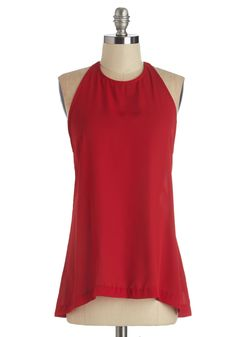 Two-Way Chic Top. The relationship you have with this red top from BB Dakota is one of mutual merriment. #red #modcloth