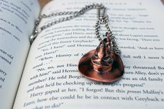 small for me is cute.  Sorting Hat necklace, Etsy