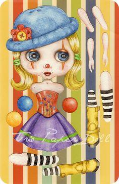 Paper Doll Clown -