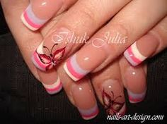 Image result for french manicure variations for long nails
