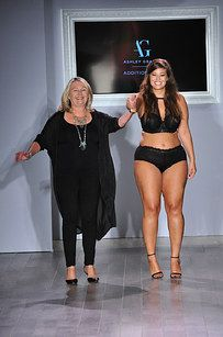 Model and designer Ashley Graham's curvy lingerie collection revealed (almost) all. | These Plus-Size Models Absolutely Slayed At Fashion Week