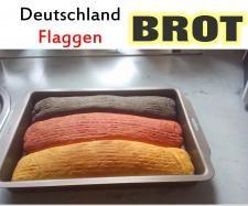 Rezept Deutschland Flaggen Brot von Easy cooking Nata - Rezept der Kategorie Brot