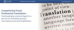 Professional Translations at competitive rates