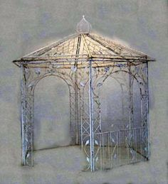Leaf Gazebo - Wrought Iron Retail: $2758.00 - Home Garden and Patio Furniture, Decor and Accents