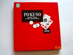 PO-KE-NO Poker-Keno Board Card Game Vintage
