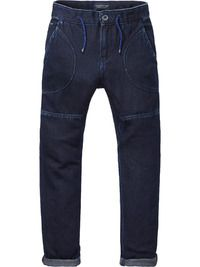 Cotton Trousers - Deep Dark | Loose Tapered Fit - Scotch & Soda