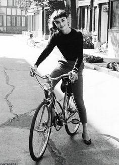 vintagegal: Audrey Hepburn on the set of Sabrina, photographed by Mark Shaw, 1953