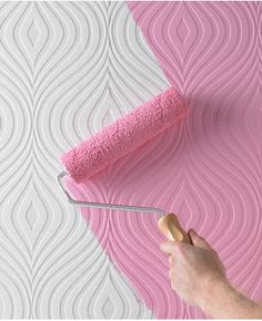 This is so cool! Paintable wallpaper in a truly retro design.