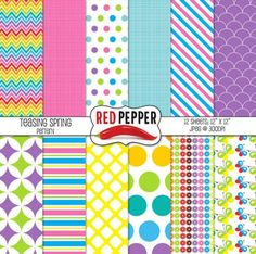 """Digital Paper - Teasing Spring Mixed Patterns, great for any project!Product Description:Size: 12""""x12""""File Format: Jpeg at 300dpiTerms of Use (TOU)All free and paid graphics may be used for personal and/or commercial use, such as:Classroom Printables, Party Printables; Cards and Invitations; Classroom Crafts; Lesson Plans; Scrapbooking, Photography, Stickers; T-shirt Prints; Vinyl Cutting or Decals; Embroidery and more.No additional licenses are required, however, credit back to my TpT store…"""