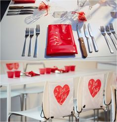 I Love Lucy Theme Bat Mitzvah - Red Vinyl Napkins & Logo {Photo by 5th Avenue Digital} - mazelmoments.com