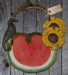 Watermelon Wall Hanging EPATTERN $5.00