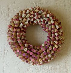 Wine Cork Wreath  Wine Lovers Gift  Sommelier by GeomorphicDesigns, $49.95