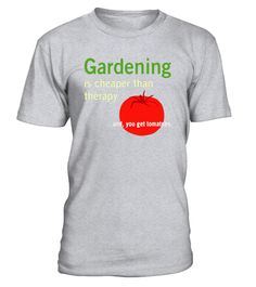 """# Gardening is Cheaper Than Therapy and Tomatoes T-shirt .  Special Offer, not available in shops      Comes in a variety of styles and colours      Buy yours now before it is too late!      Secured payment via Visa / Mastercard / Amex / PayPal      How to place an order            Choose the model from the drop-down menu      Click on """"Buy it now""""      Choose the size and the quantity      Add your delivery address and bank details      And that's it!      Tags: For all of the passionate…"""
