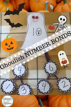 Are you looking for a craft with worksheets to teach, reinforce or review number bonds? Well, I've got you covered. This is learning and fun at its finest and also demonstrates what each student has learned and makes a great Bulletin Board Display! I am thinking that you might just want float over and take a look at the full resource! #numberbondactivities #numberbondworksheets #Halloweennumberbonds #numberbondactivitesforprimary