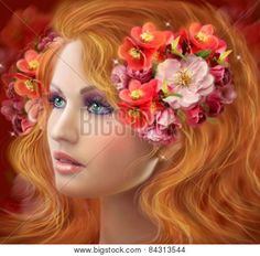 Fantasy Beautiful fairy woman Autumn