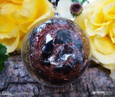 Orgone-Energy Pandantiv Emisferic cu Onix Negru