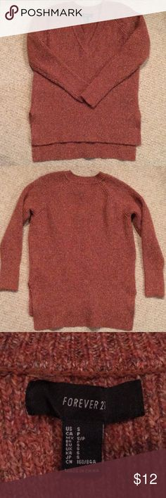 Forever21 Rust colored sweater Forever21 Rust colored woman's sweater in Small...never worn Forever 21 Sweaters V-Necks