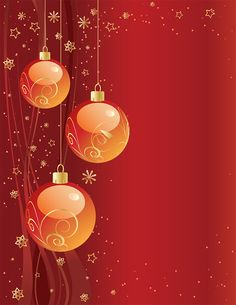 Red Christmas Background With Vector Ball Ornaments (Free) | Free Vector Archive
