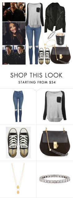 """""""when you came back after years to central city"""" by ally-xcv ❤ liked on Polyvore featuring Topshop, Leon & Harper, Converse, Chloé, Rick Owens, Jennifer Zeuner and Tiffany & Co."""