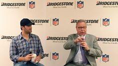 "A little pre-game ""chalk talk"" with Tony Romo and @jawsespn. Happy game day, everyone! #BridgestoneSBXLIX"
