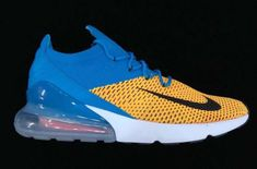 7bca6b30297 A First Look At The Nike Air Max 270 Flyknit Blue Yellow As most of you