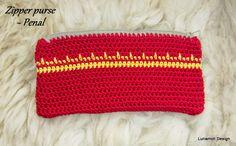 Crochet zipper purse with tutorial