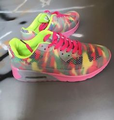 Casual Trainers, Women's Casual, Air Max, Camo, Rainbow, Colour, Best Deals, Sneakers, Pink