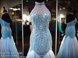 Turquoise Halter Mermaid Prom Dress - Rsvp EC - Long Gown - Rsvp Prom and Pageant Atlanta, Georgia GA - 4