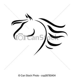 Vector - vector drawing horse - stock illustration royalty free illustrations stock clip art icon stock clipart icons logo line art EPS picture pictures graphic graphics drawing drawings vector image artwork EPS vector art Horse Drawings, Animal Drawings, Horse Stencil, Horse Tattoo Design, Indian Horses, Vector Art, Eps Vector, Horse Logo, Horse Silhouette