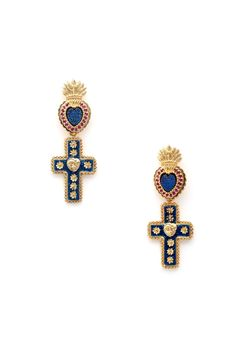 Matina Amanita: Cross My Heart earrings {via Lady Petrova}