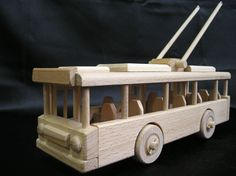 wooden-trolley-bus-toys. 39,99 € Natural handmade wooden toy Czech production. Lacquered natural wax, Children safe. www.soly-toys.com