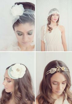 Awesome bridal headpieces by Iley Love