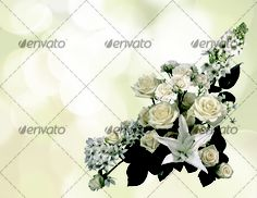 Beautiful flowers bokeh background with place for text 2