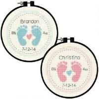 Dimensions® Baby Footprints Counted Cross-Stitch Kit