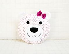 Bear Pillow for kids Toy cushion teddy bear doll stars by Jobuko