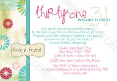 Mod thirty-one Party Invitation - Printable Greeting Card for your Proverbs 31 Thirty One Purse Party - Digital File.  A unique way to invite your friends to organize their life with personalized totes, purses, accessories, etc.  Great for Ladies / Girls Night out, baby or bridal shower, or a practical Open House option, too!  Like it?  Please find it at www.kottageon5th.etsy.com.