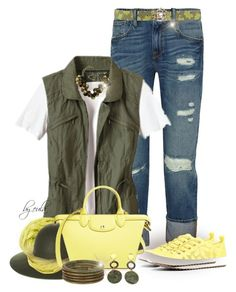"""Yellow Bag and Yellow Sneakers (Outfit Only)"" by eula-eldridge-tolliver ❤ liked on Polyvore"