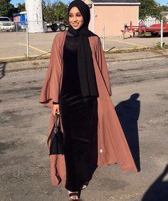 Pinterest: @eighthhorcruxx. Black abaya and hijab. Solace