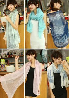 cdd3d1515917ce Women Autumn Chiffon Classic Print Neck Shawl Scarf Scarves Wrap Stole Warm  in Clothing