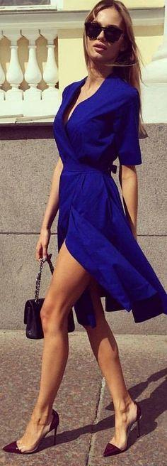 Summer fashion. Cobalt Dress See more at http://www.spikesgirls.com
