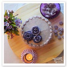 Violet layer cake