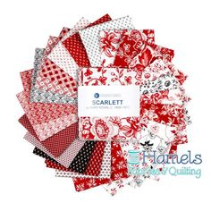 """Fat Quarter Scarlett, 24pcs/bundle Designed by Mary Koval for Windham Fabrics, the Scarlett collection is inspired by the mid 1800s.  This lightweight fabric is easy to sew with, has a soft hand, and is very versatile!  It is ideal for quilting, but can also be used for crafts and miscellaneous sewing projects. Assortment contains 24 fat quarters measuring 18"""" x 22"""" each."""