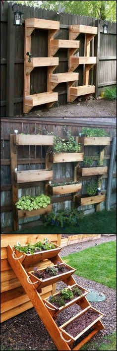 If you're interested in going vertical with your greenery, then these vertical wooden box planters might be for you.   View the full collection of vertical wooden box planter on our site at http://theownerbuildernetwork.co/5p4q  Want to add a bit of greenery to your garden and save space?
