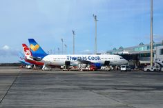 Planes at Tenerife South Airport