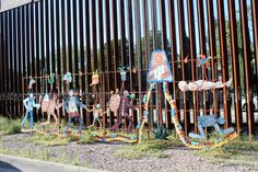 Artwork along the 18' high fence between #Nogales, Sonora and Nogales, AZ. #immigration