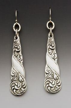 gloria pattern demitasse drop earrings